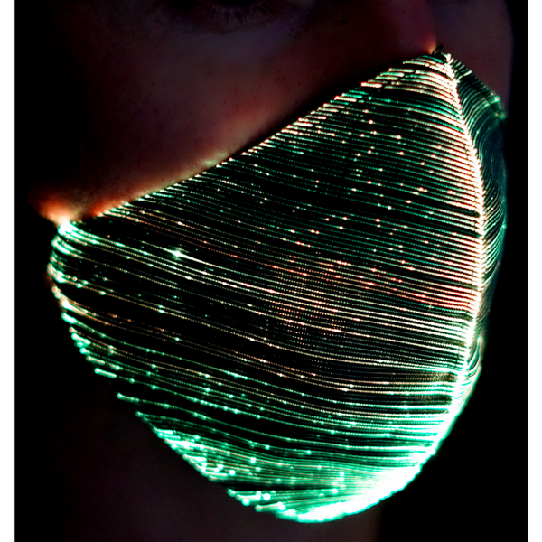 Light Up Fibre Optic Rechargeable Face Mask