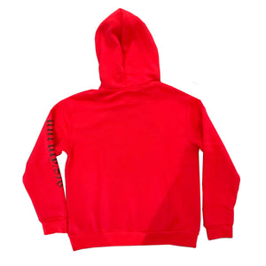 Unruly Sweater 876 Gad Mask Hoodie - Red/Black