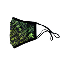Unruly 420 Mask - Black/Lime Green/Yellow