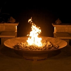 "Asia 60"" Fire Pit by Fire Pit Art with Fire"