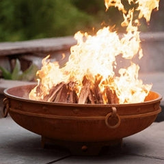 Emperor Steel Fire Pit by Fire Pit Art with Fire