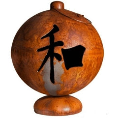 """Ohio Flame Fire Globe """"Peace, Happiness, Tranquility"""""""