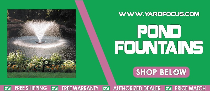 Pond Fountains Banner