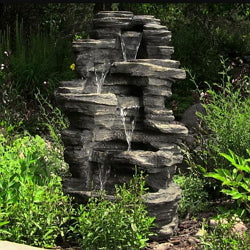 Sunnydaze Rock Falls Electric Waterfall Fountain