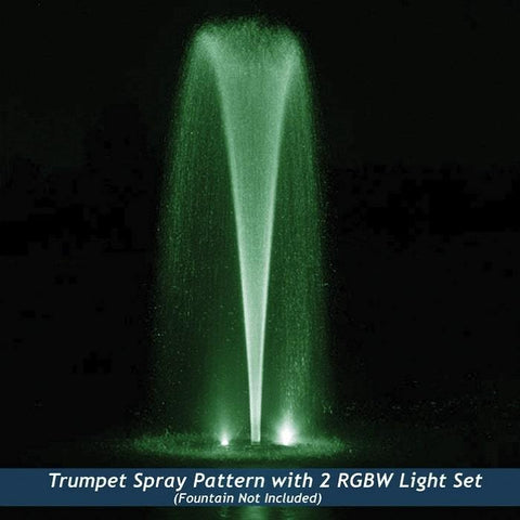 Airmax RGBW Color Changing LED Fountain 2 Light Set in Green Light