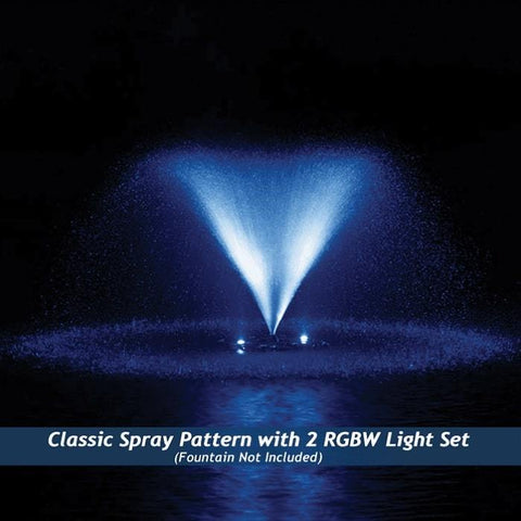 Airmax RGBW Color Changing LED Fountain 2 Light Set in Blue Light
