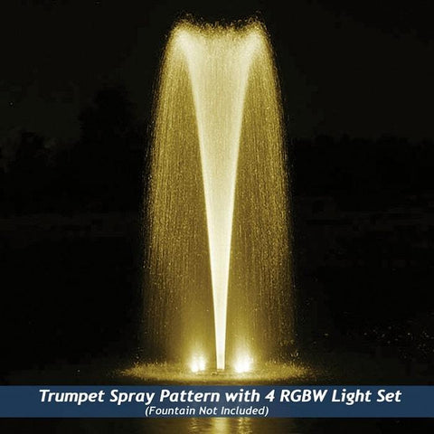 Airmax RGBW Color Changing LED Fountain 4 Light Set