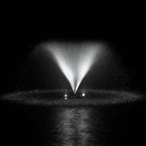 Airmax White LED Fountain Light Set in a Pond Fountain