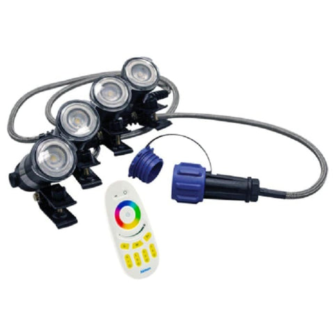 Airmax RGBW Color Changing 4 Light Kit with Remote