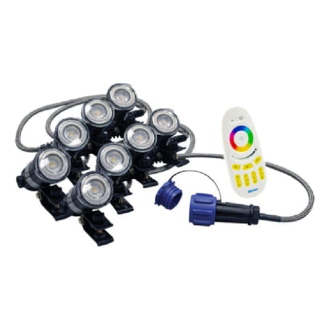 Airmax RGBW Color Changing 8 Light Kit with Remote
