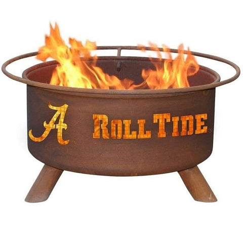 Alabama F410 Steel Fire Pit by Patina Products with white background.