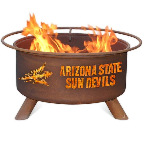 Arizona State F213 Steel Fire Pit by Patina Products with white background.