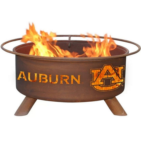 Auburn F405 Steel Fire Pit by Patina Products with white background.