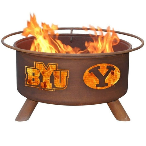 BYU F400 Steel Fire Pit by Patina Products with white background.
