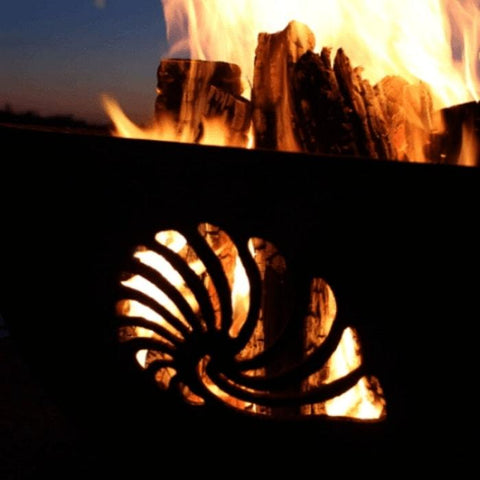 "Beachcomber 36"" Fire Pit by Fire Pit Art with Wood Burning"