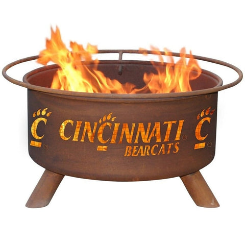 Cincinnati F425 Steel Fire Pit by Patina Products with white background.
