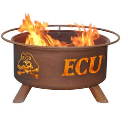 East Carolina F438 Steel Fire Pit by Patina Products with white background.