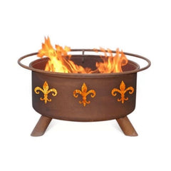 Fleur De Lis Steel Fire Pit by Patina Products