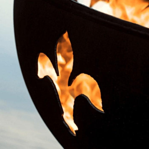 "Focused Image of Fleur De Lis 36"" Fire Pit by Fire Pit Art"