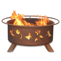 Flower & Garden Steel Fire Pit by Patina Products
