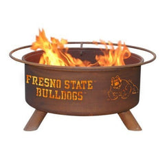 Fresno State F468 Steel Fire Pit by Patina Products with white background.