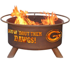 Georgia F404 Steel Fire Pit by Patina Products with white background.