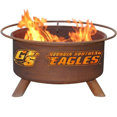 Georgia Southern Steel F447 Fire Pit by Patina Products with white background.