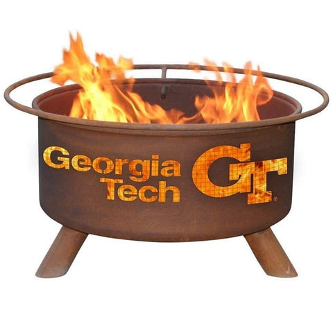 Georgia Tech F212 Steel Fire Pit by Patina Products with white background.