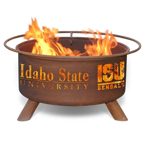 Idaho State F412 Steel Fire Pit by Patina Products with white background.