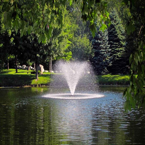 Scott Aerator DA-20 Display Fountain Aerator 2HP with Trees Background