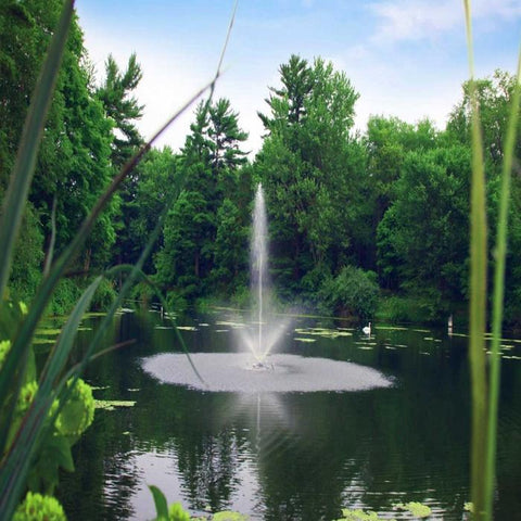 Image of the Scott Aerator Skyward Pond Fountain 1/2HP Shooting Water in a Pond