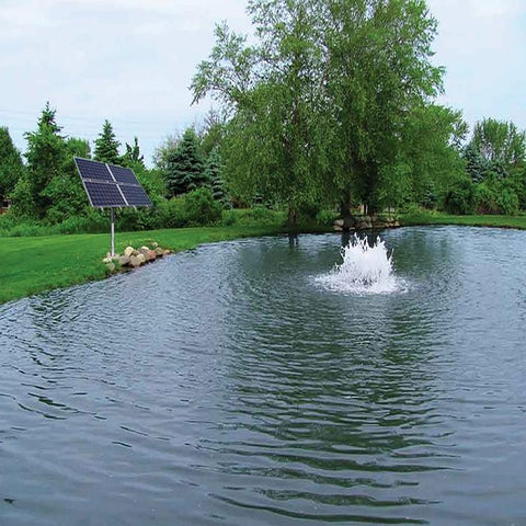 Scott Aerator Solar Boilermaker Aerator with Solar Panel and Trees