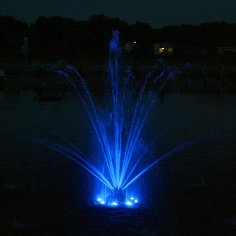 Kasco RGB6C5 Pond Fountain Composite RGB LED 6 Light Kit with Blue Lights