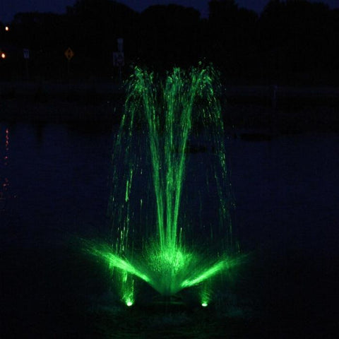 Kasco RGB3C5 Pond Fountain Composite RGB LED 3 Light Kit with Green Lights