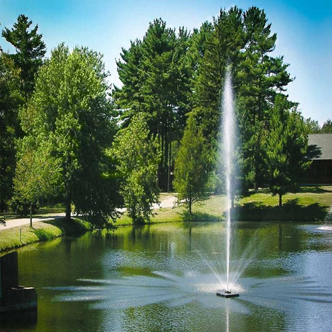 Scott Aerator Skyward Pond Fountain 1/2HP Shooting High Water with Trees