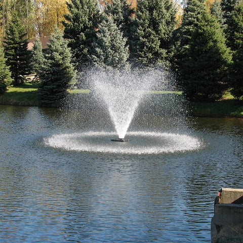 Scott Aerator DA-20 Display Fountain Aerator 1.5HP 230V Shooting Water with Pine Trees