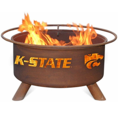 Kansas State F406 Steel Fire Pit by Patina Products with white background.