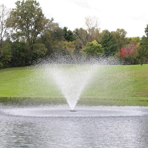 Kasco 4400HJF 1HP 240V Floating Pond Fountain Shooting in a Classic Pattern