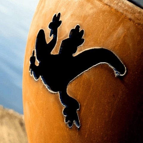 "Kokopelli 36"" Steel Fire Pit by Fire Pit Art with Reptile Image"