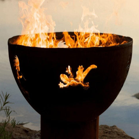 "Kokopelli 36"" Steel Fire Pit by Fire Pit Art"