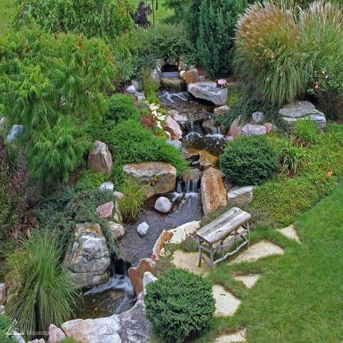 Aquascape Large Pondless Waterfall Kit 26' Stream w/ Pond Pump [53042] - YardFocus.com