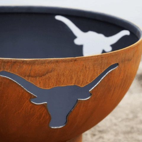 "Longhorn 36"" Steel Fire Pit by Fire Pit Art Half Side View"