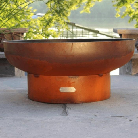 "Low Boy 36"" Steel Fire Pit by Fire Pit Art Close-Up Image"
