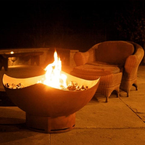 "Manta Ray 36"" Steel Fire Pit by Fire Pit Art"