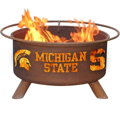 Michigan State F403 Steel Fire Pit by Patina Products