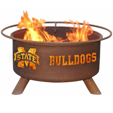 Mississippi State F246 Steel Fire Pit by Patina Products with white background.