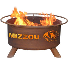 Missouri F409 Steel Fire Pit by Patina Products with white background.