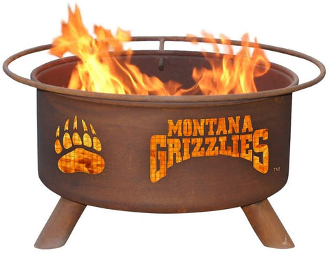 Montana F411 Steel Fire Pit by Patina Products with white background.
