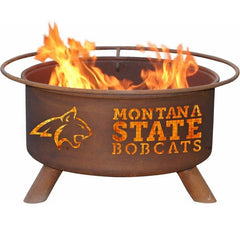 Montana State F414 Steel Fire Pit by Patina Products with white background.