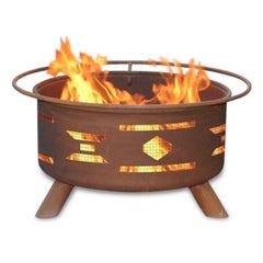 Mosaic Santa Fe Steel Fire Pit by Patina Products